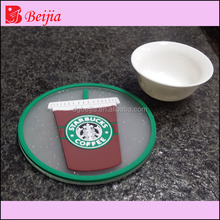 Custom wholesale bulk soft pvc beer mat drink tea cup water absorbing coaster/wedding kit silicon rubber anti-slip bar coaster