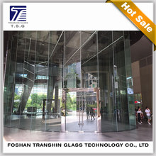 Toughened Building Curtain Wall Glass Tempered Single Glass On Sale