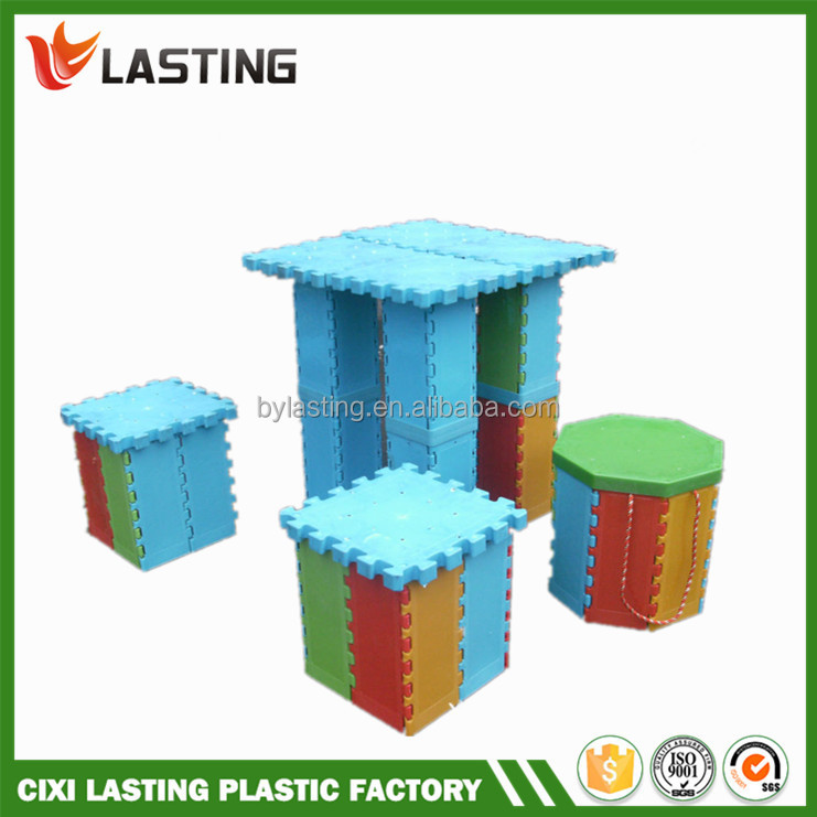 New Colorful Plastic Folding Stool with Storage Box
