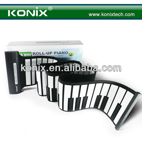 Music Roll Up A Piano Electric Piano Electronic Player New Thicken 88keys soft piano
