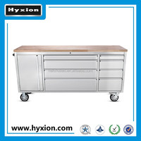 72 inch us general garage storage stainless steel metal roller tool box with wheels