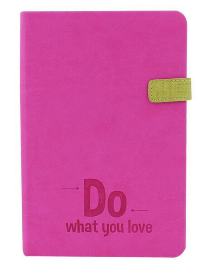 Cute custom pink pu leather writing diary notebook for girls with magnet closure