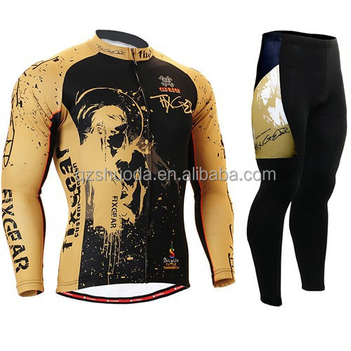 Cheap china wholesale men cycling clothing 2014 winter hot sell custom cycling Jersey