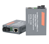 Low price single fiber 10/100mbps 1310 fiber optic media converter oem factory for communication
