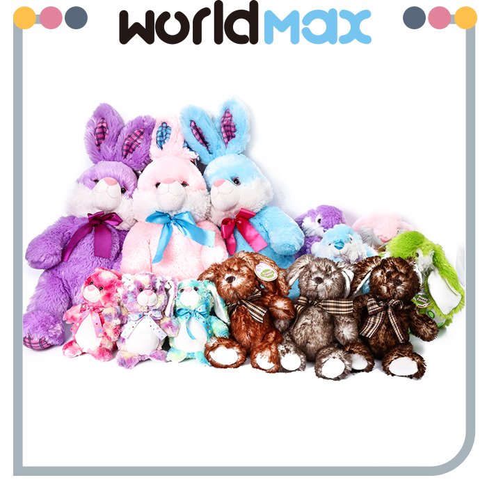 Soft Touching Rabbit With Tie Oem Plush Toys for Kids