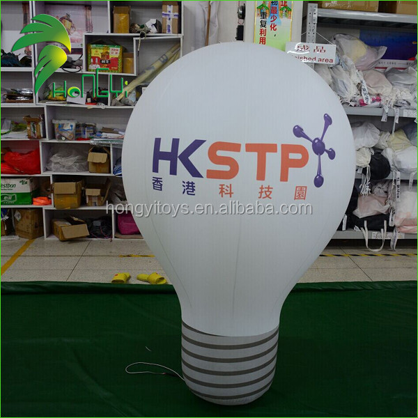 Lighting LED Inflatable Bulb Balloons, Advertising Rechargeable Led Light Bulb