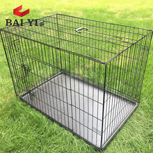 Folding Metal Dog Cages Crates With Divider