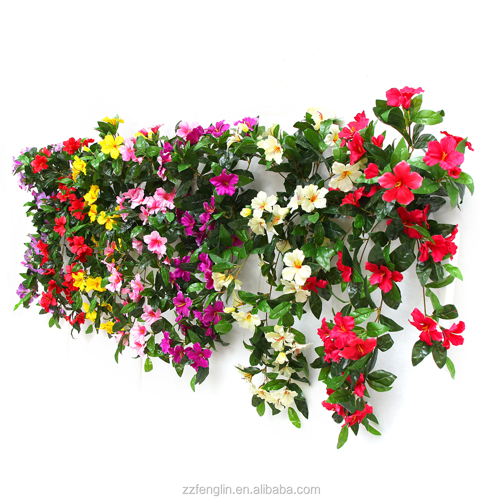 factory cheap wall hanging artificial flower for sale