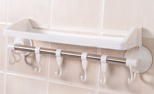 Hook with strong suction cups rack / bathroom supplies hook towel racks sucker shelves