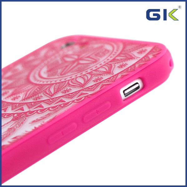 [GGIT] Fashion 3D Relief National Style Matte TPU+PC Celulares Cover For IPhone 6 Cell Phone Case