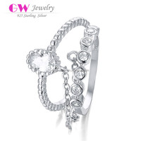 King And Queen Engagement And Wedding Ring Jewelry Wholesale Jewellery FR024A