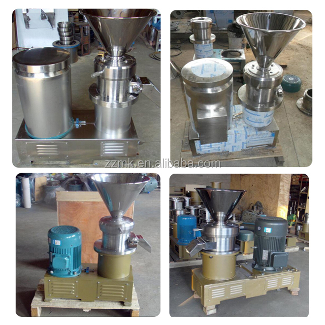 304 Stainless steel automatic nuts paste making machine/colloid mill/industrial peanut butter machine