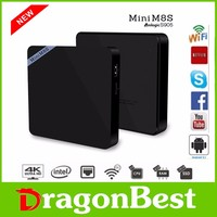 Mini M8S internet android tv box 2GB/8GB android 5.1 TV Box Amlogic S905 Quad Core Android 5.1 2.4G&5G Wifi