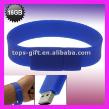 silicone bracelet competitive price custom logo usb flash drive