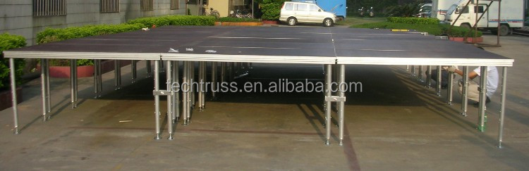 aluminum portable adjustable event stage