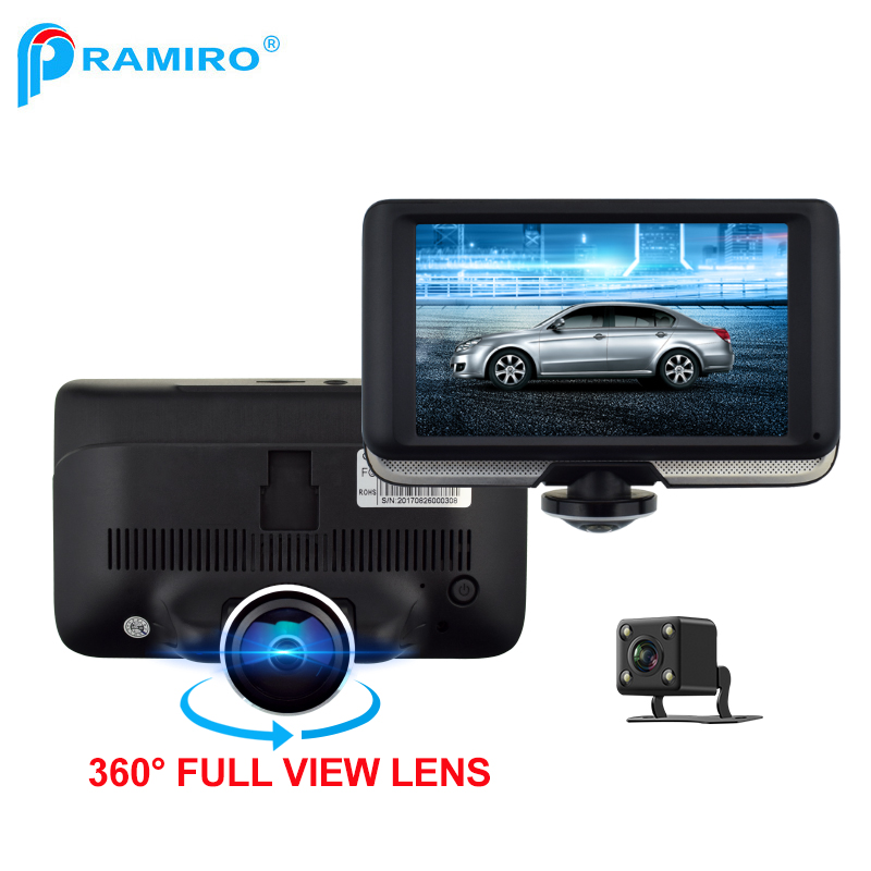 Factory direct fhd 1080P dual lens T360 video car dvr recorder with 360 degree full view lens