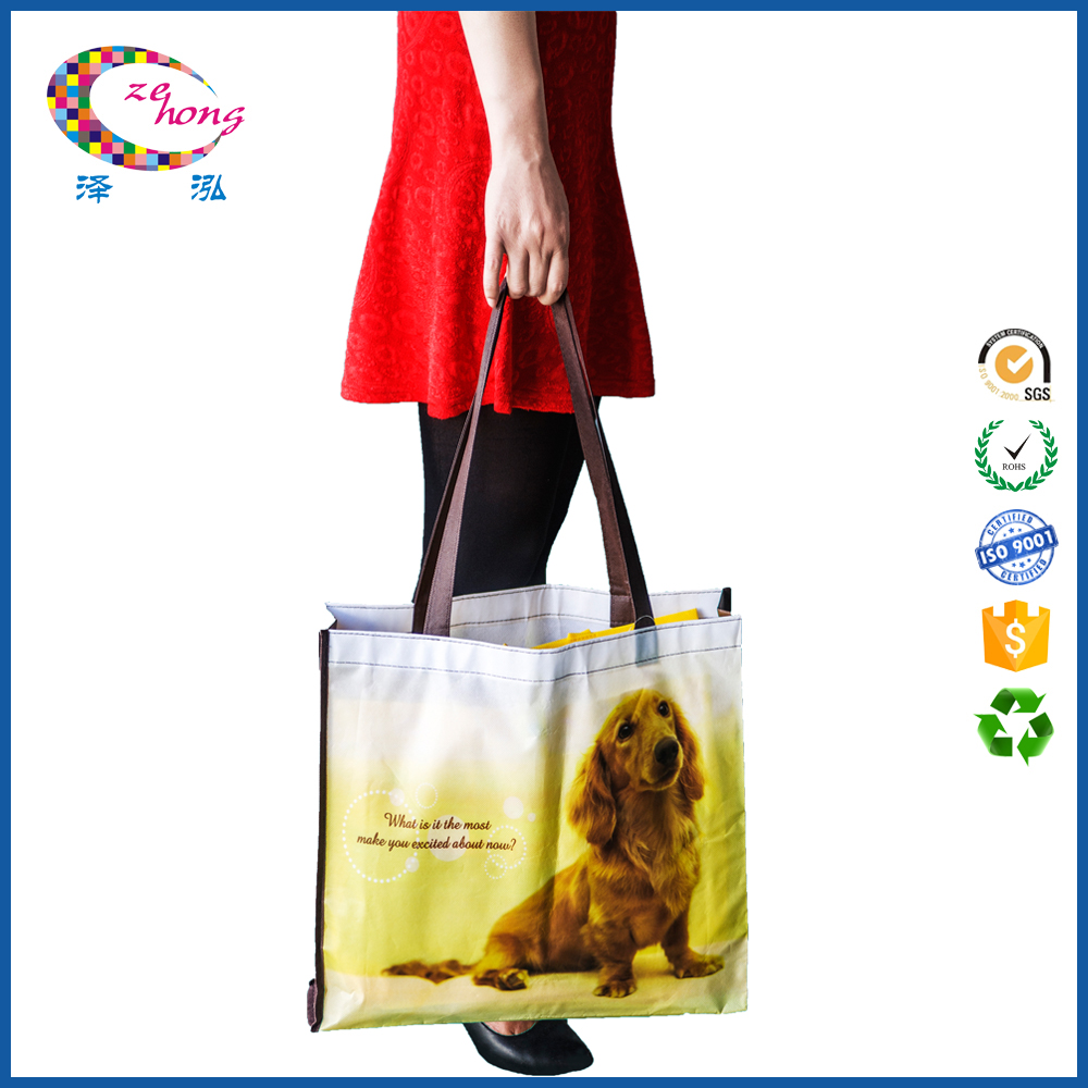 Promotional printed logo and color non woven bag d cut