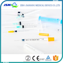 Strict quality control disposable insulin syringes with needle