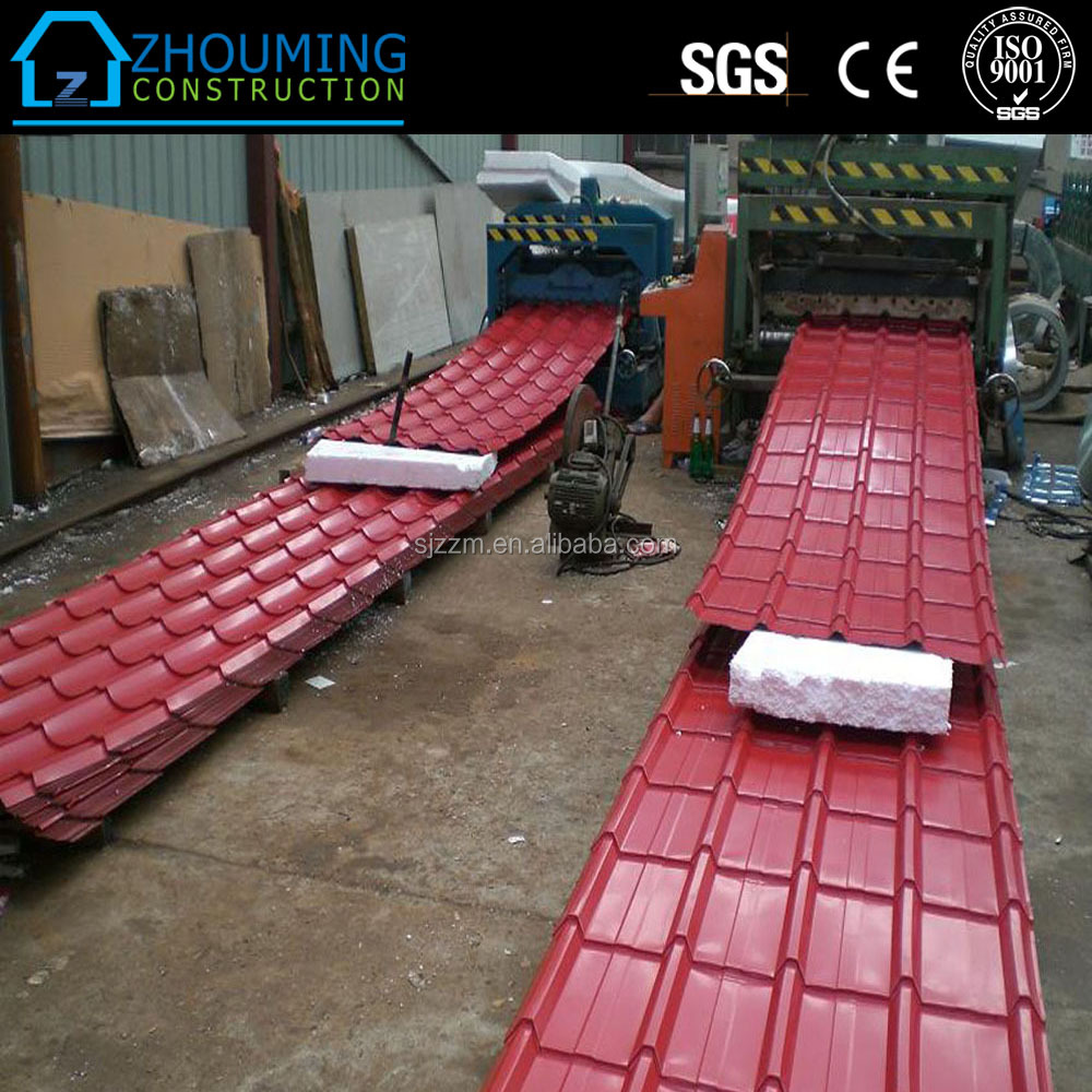 thin metal aluminium zinc color coated roof tiles