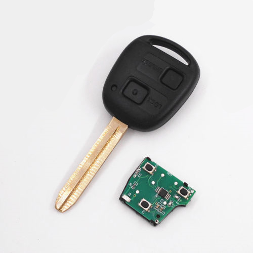 Original smart car toyota remote <strong>key</strong> with 433mhz 4C chip 2 Buttons for Toyota Camry Prado Corolla
