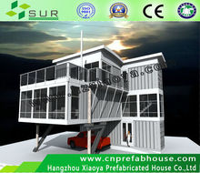 new style shipping container house with laminated floor as office hotel