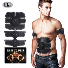 6 Packs Abdominal Muscle Toner Electronic EMS Muscle Stimulator ABS Body Massager