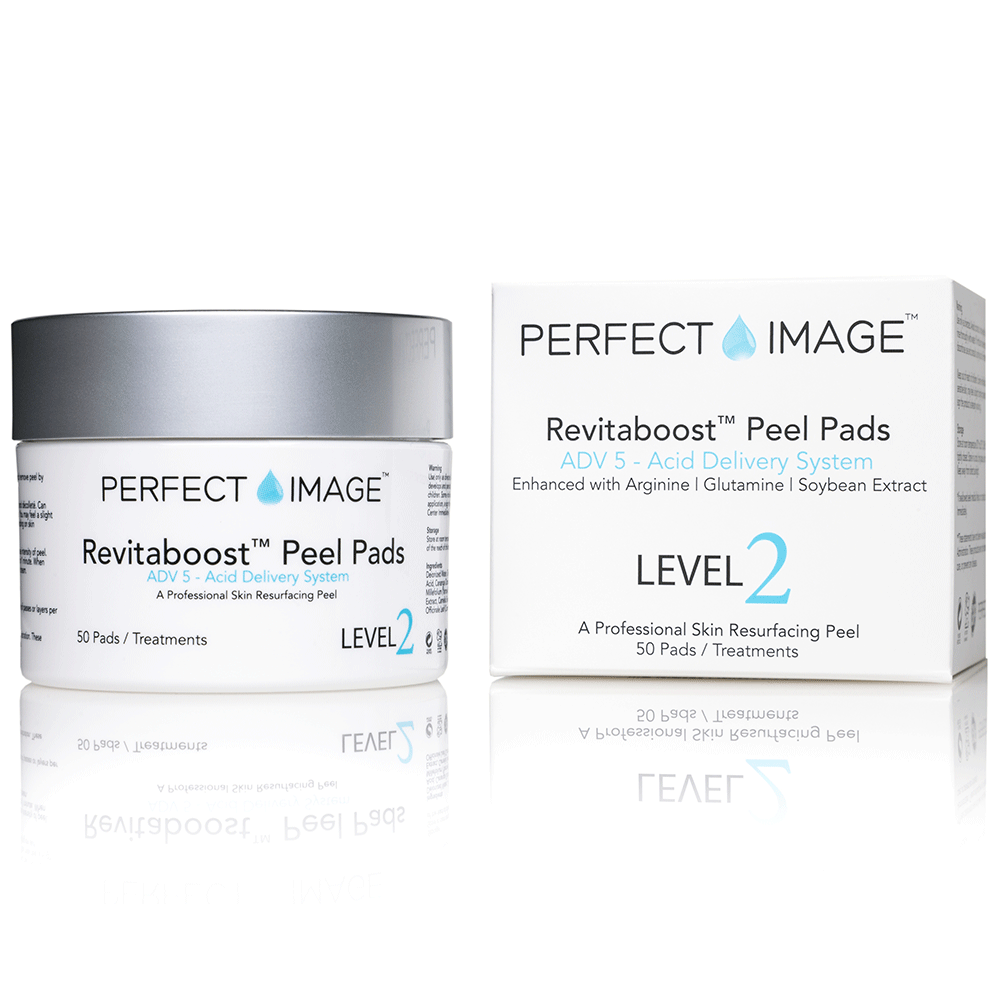REVITABOOST Anti-Aging Peel Pads - Enhanced with Glycolic Acid 15% | TCA 15% | Mandelic Acid 3% | Arginine | Glutamine