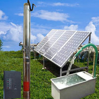 Solar energy water pumping system water pump for water treatment plant