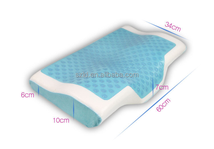 Aqua Gel Pillow Contour Cooled Gel Memory Foam Pillow