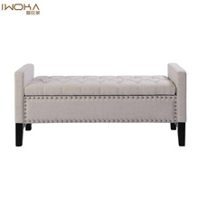 Tufted Studded Storage Ottoman Bench In Brief Style,Home Goods <strong>Furniture</strong>