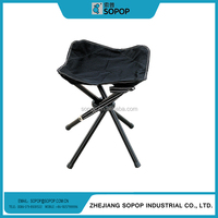 Portable Adjustable Camping Lightweight Folding Metal With Canvas Tripod Chair