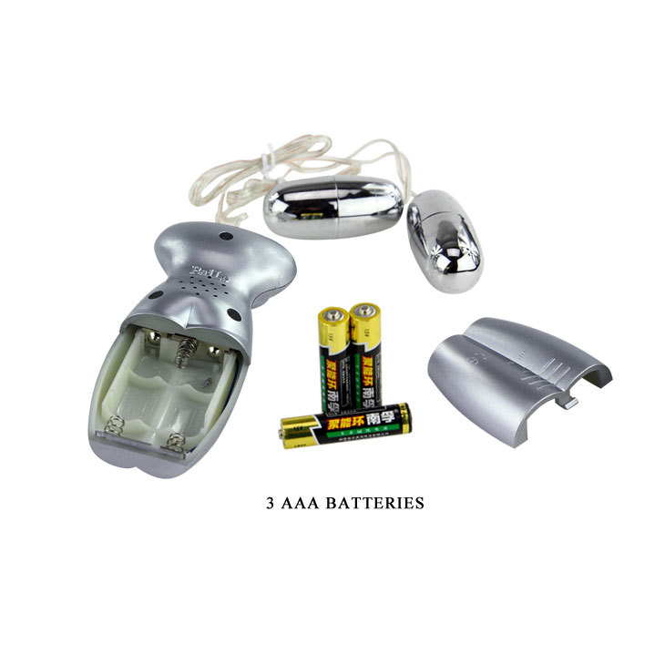 Two vibrating eggs, TPR material, Voice, double Vagina,3AAA batteries
