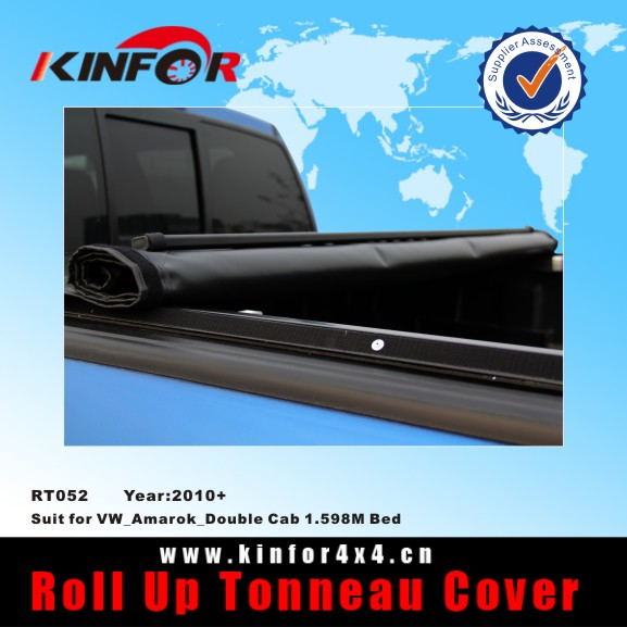Soft Roll up Tonneau Cover for VW_Amarok_Double Cab 1.598M Bed Model 2010+