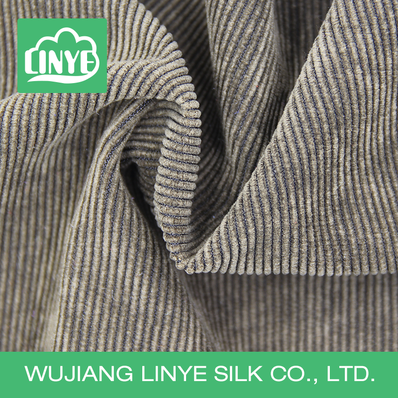classic stripe woven corduroy fabric, cloth material, garment/trousers fabric