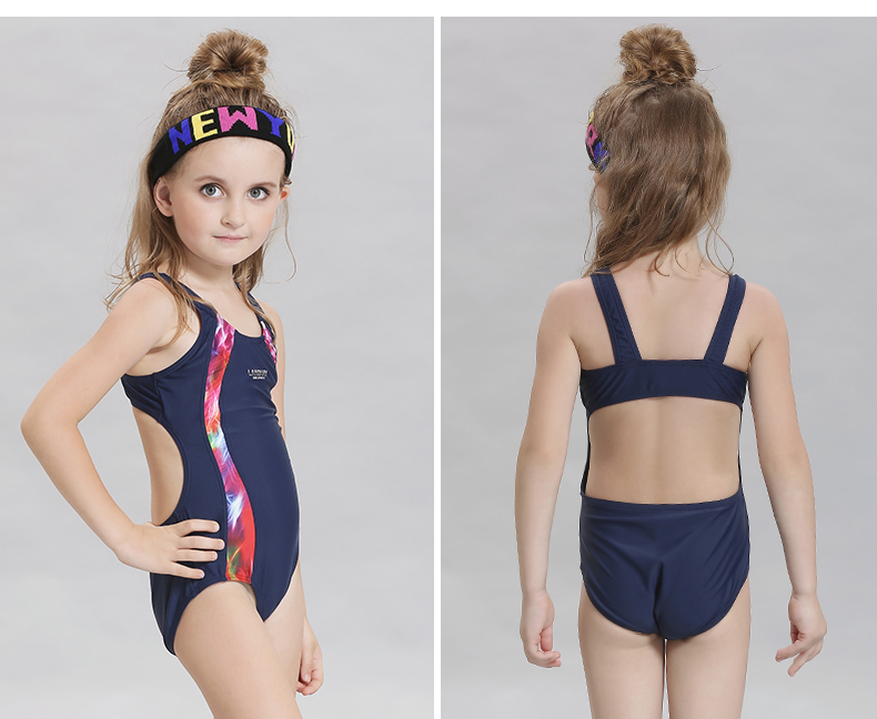 European and American size wholesale fashion cheap children athletic swimwear nylon sexy yong girl bikini