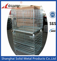 Metal Storage cage/wire mesh container for wearhouse storage