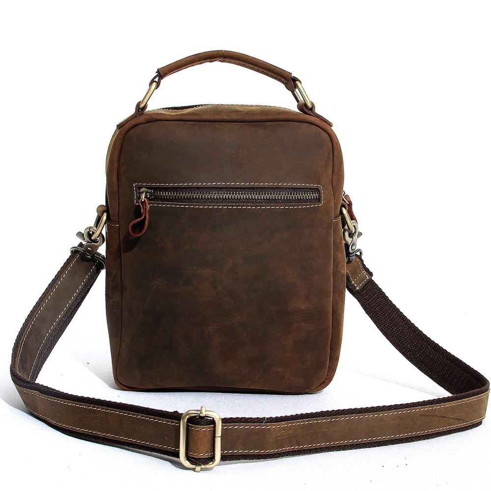 Wholesale MOSHI Genuine Vintage Crazy Horse Leather Messenger Bag ...