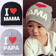 Love Papa And Mama Handmade Knitted Cotton Baby Hat And Cap