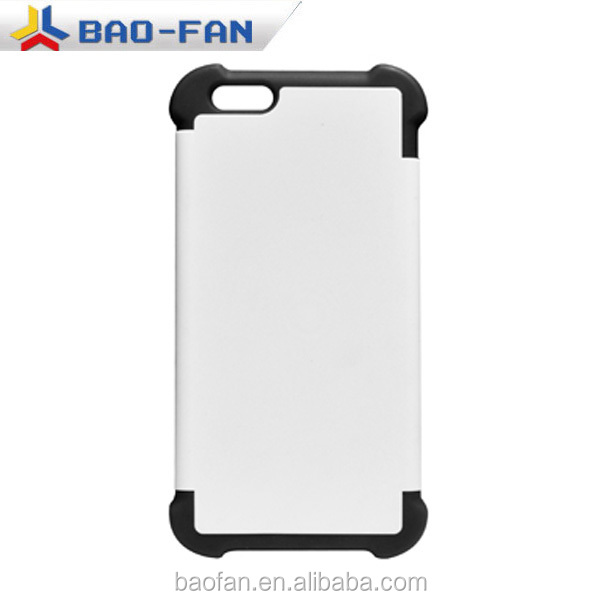 newest DIY 3D sublimation silicone dual protective phone case for IP6