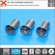 torx raised countersunk head machine screw