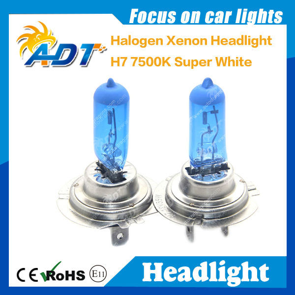 H7 7500K 100W HEADLIGHT BULBS HID LOOK XENON BLUE FANTASTIC COLOUR !!