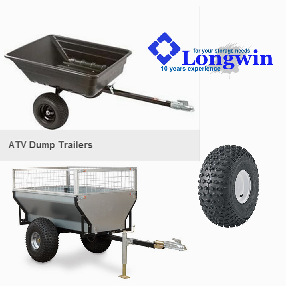 off road 2 wheels tipping utility trailer