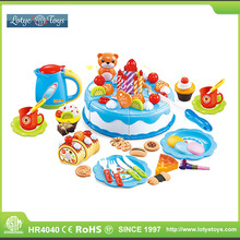 Funny birthday party gifts cake set pretend play toys for kids