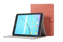 Retro Wood Pattern Folio PU Leather Case For Samsung Galaxy Tab S2 9.7'' T810 T815 Cover Tablet Shell Skin