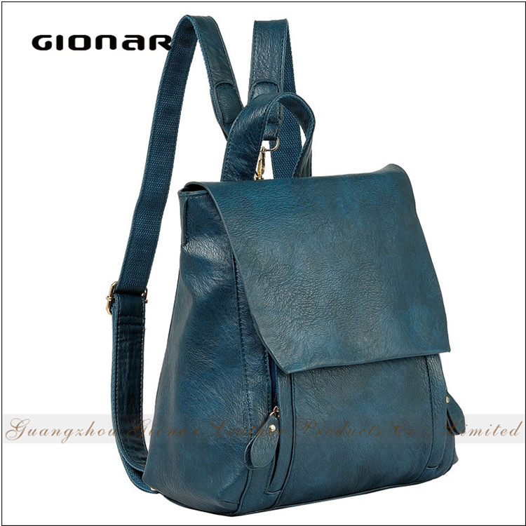 Customized Popular Girls Manufacturers Usa Women PU Matted Leather Outdoor <strong>Backpack</strong>
