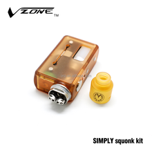 2018 New handy size vzone simply squonk kit with locking power safety switch bottom feeder box mod from authentic factory