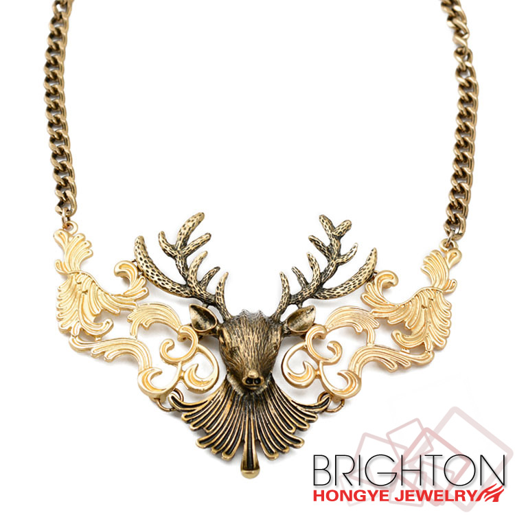 Winter Style Elk Charm Necklace N1-55277