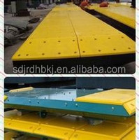 China Yellow high impact resistance PE dock fender pad board