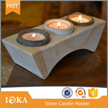 Nature Granite Stone Candle Holder