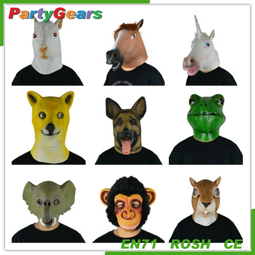 2017 Hot animal head mask natural latex mask for party and halloween
